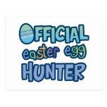 Cazador oficial colorido del huevo de Pascua Tarjetas Postales