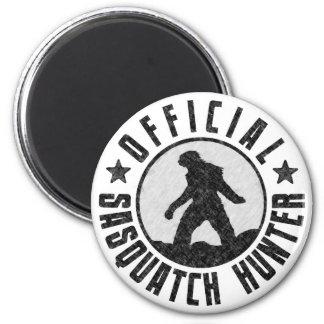 Cazador oficial de Sasquatch - Bigfoot en Grunge d Imán Redondo 5 Cm