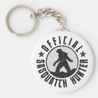 Cazador oficial de Sasquatch - Bigfoot en Grunge d Llavero Personalizado