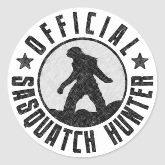 Cazador oficial de Sasquatch - Bigfoot en Grunge d Etiqueta