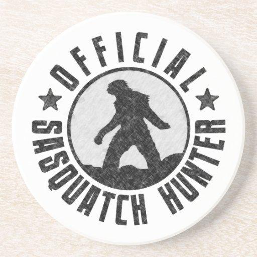 Cazador oficial de Sasquatch - Bigfoot en Grunge d Posavasos Para Bebidas