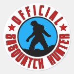 ¡Cazador oficial de Sasquatch! Pegatina del