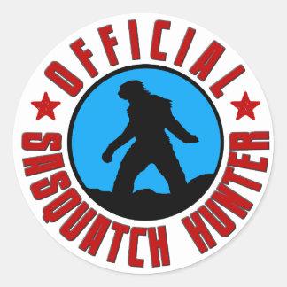 ¡Cazador oficial de Sasquatch Pegatina del miembr