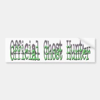 Cazador oficial del fantasma pegatina para auto