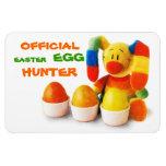 Cazador oficial del huevo de Pascua. Imán del rega