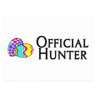 Cazador oficial del huevo de Pascua Tarjeta Postal