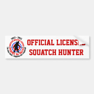 Cazador oficial del squatch pegatina para auto