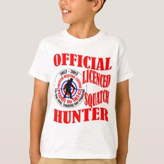 Cazador oficial del squatch camisas