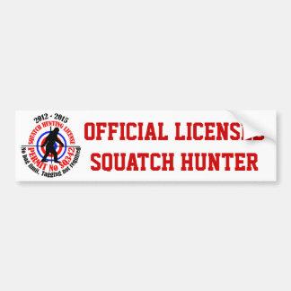 Cazador oficial del squatch etiqueta de parachoque