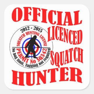 Cazador oficial del squatch etiquetas