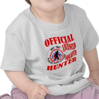 Cazador oficial del squatch camiseta