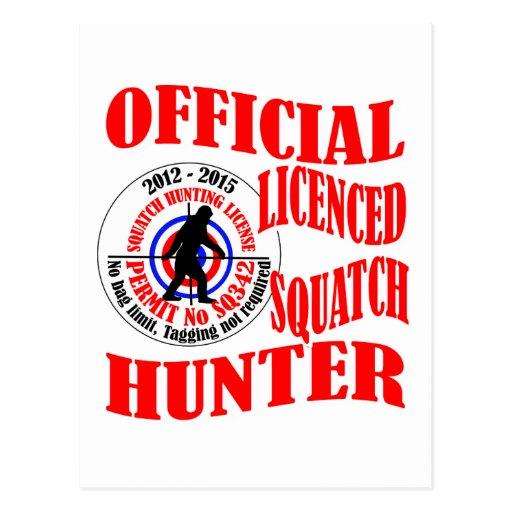 Cazador oficial del squatch tarjetas postales