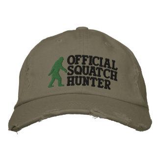 Cazador oficial del squatch * version* grande del  gorras bordadas