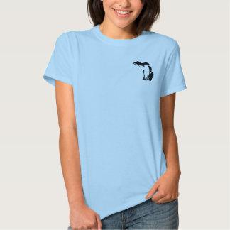 Cazador orgulloso de Michigan - la camiseta cabida Poleras