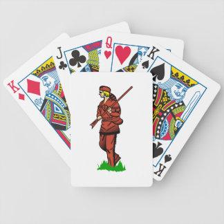 Cazador pionero baraja cartas de poker