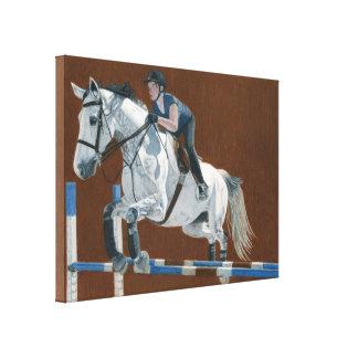 Cazador/puente - el caballo y el jinete envolviero lona estirada galerías