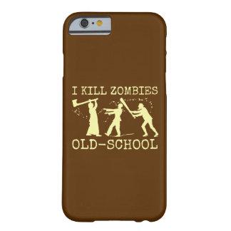 Cazador retro divertido del asesino del zombi de funda para iPhone 6 barely there