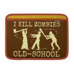 Cazador retro divertido del asesino del zombi de funda macbook air