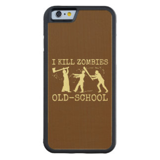 Cazador retro divertido del asesino del zombi de funda de iPhone 6 bumper arce