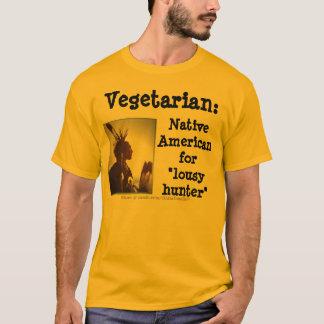 Cazador vegetariano/malísimo playera