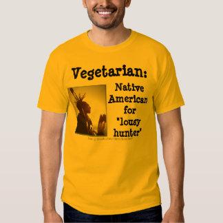 Cazador vegetariano/malísimo playeras