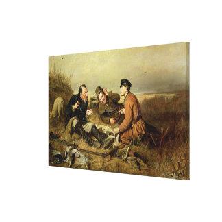 Cazadores, 1816 lienzo envuelto para galerías