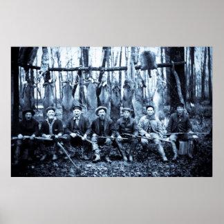 Cazadores 1911 de los ciervos del vintage del club póster