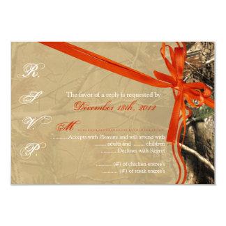 cazadores Camoflouge Camo de la tarjeta de Invitación 8,9 X 12,7 Cm