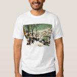 Cazadores de Pieter Bruegel en la camiseta de la n Playera