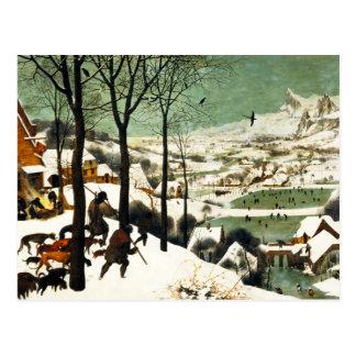 Cazadores de Pieter Bruegel en la postal de la nie