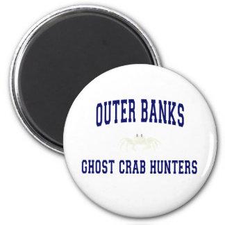 Cazadores del cangrejo del fantasma imán redondo 5 cm