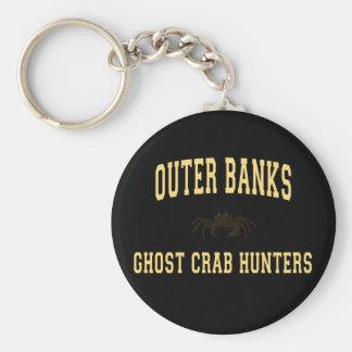 Cazadores del cangrejo del fantasma llavero redondo tipo pin