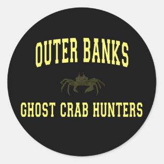 Cazadores del cangrejo del fantasma etiquetas redondas