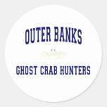Cazadores del cangrejo del fantasma etiqueta redonda
