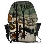Cazadores en la nieve de Pieter Bruegel la anciano Bolsas De Mensajería