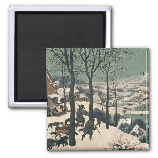 Cazadores en la nieve - enero de 1565 imán para frigorífico