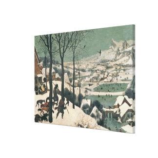 Cazadores en la nieve - enero de 1565 impresión en lona