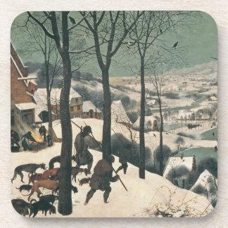 Cazadores en la nieve - enero de 1565 posavasos