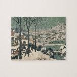 Cazadores en la nieve - enero de 1565 puzzle con fotos