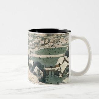 Cazadores en la nieve - enero de 1565 taza de dos tonos