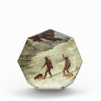 Cazadores furtivos de Gustavo Courbet- en la nieve
