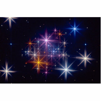 Cazadores multicolores de la estrella escultura fotográfica
