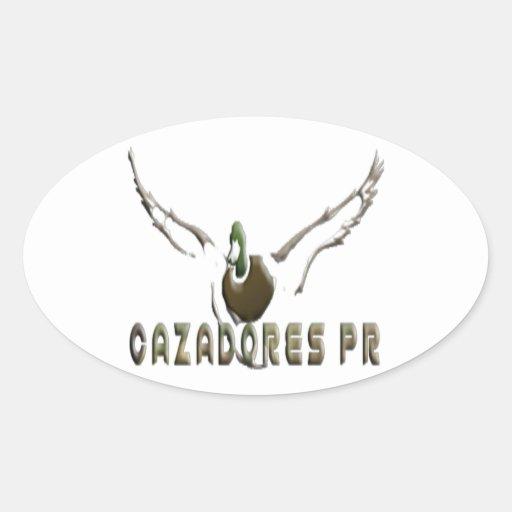 Cazadores PR - Custom Products Pegatina Oval Personalizadas