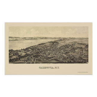 Cazenovia, NY Panoramic Map - 1890 Poster