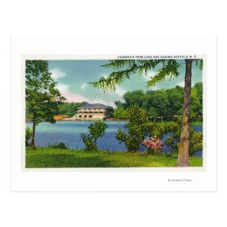 Cazenovia Park View of the Lake and Casino Postcard