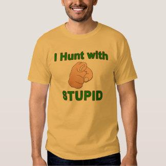 Cazo con estúpido - la camisa de los hombres