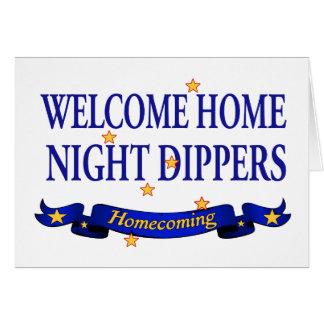 Cazos caseros agradables de la noche tarjeta de felicitación