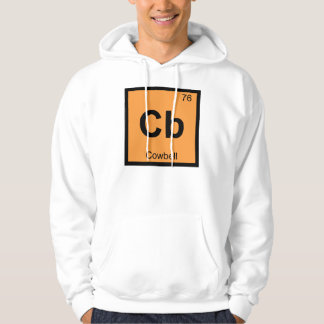 Cb - Cowbell Music Chemistry Periodic Table Symbol Hoodie