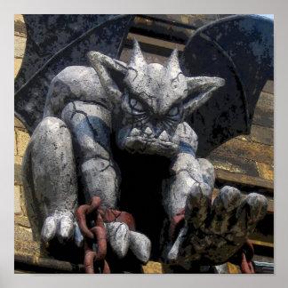 CB del Gargoyle de la prisión Póster