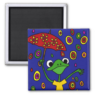 CB- Glorious Frog Dancing in the Rain Magnet